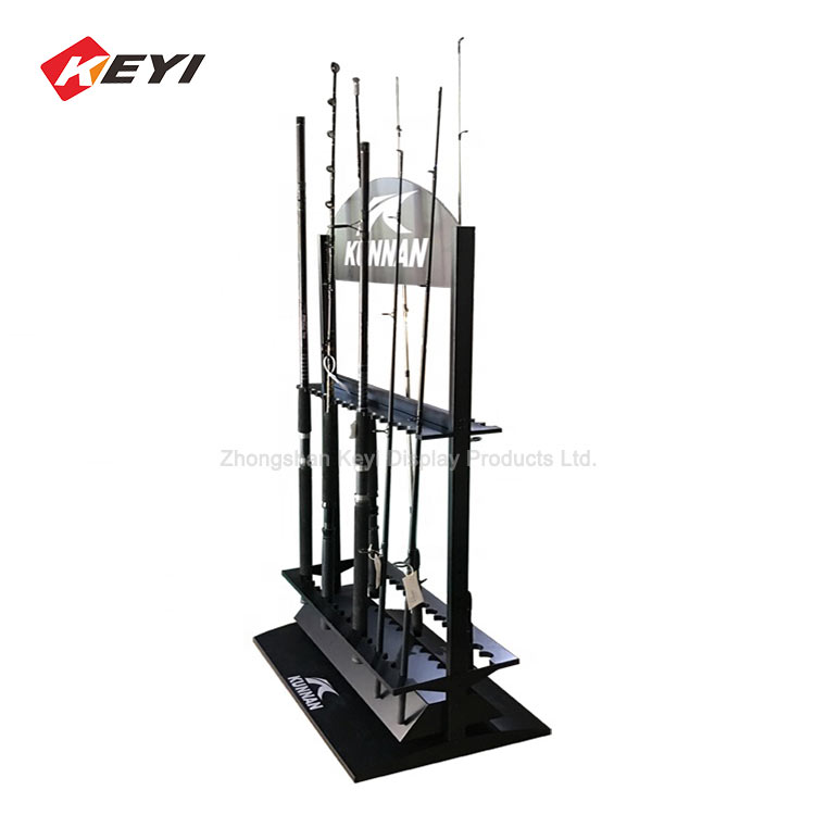 Professional Custom Metal Fishing Rod Display Rack