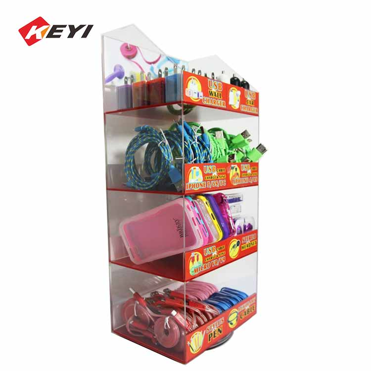 Retail Store Counter Top Acrylic Usb Cable Display Stand