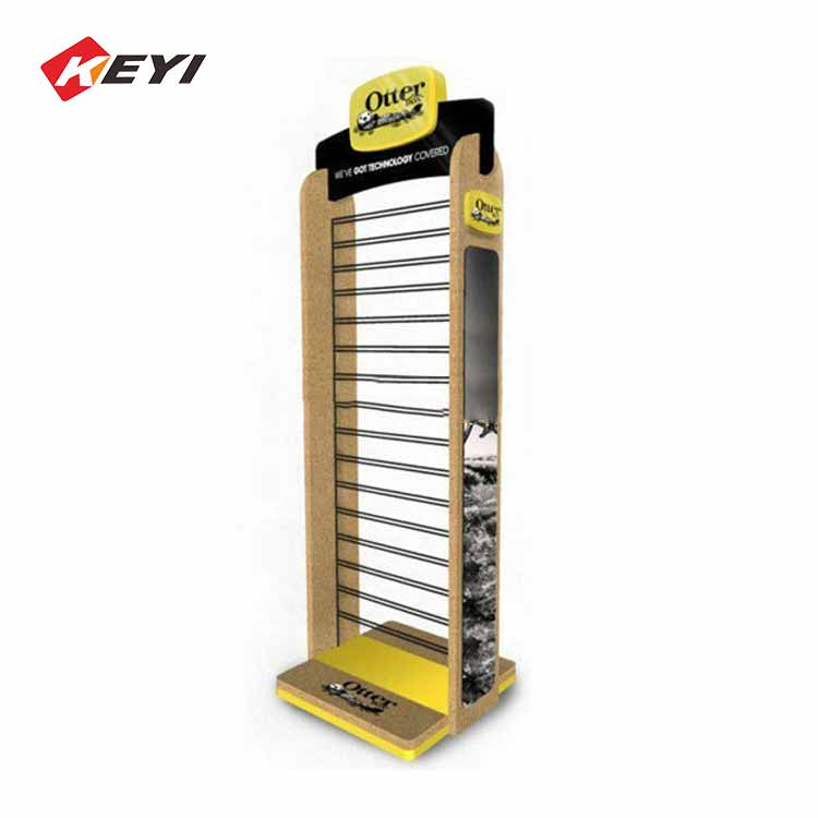 Retail Store Two Sides Floor Mobile Accessory Display Stand