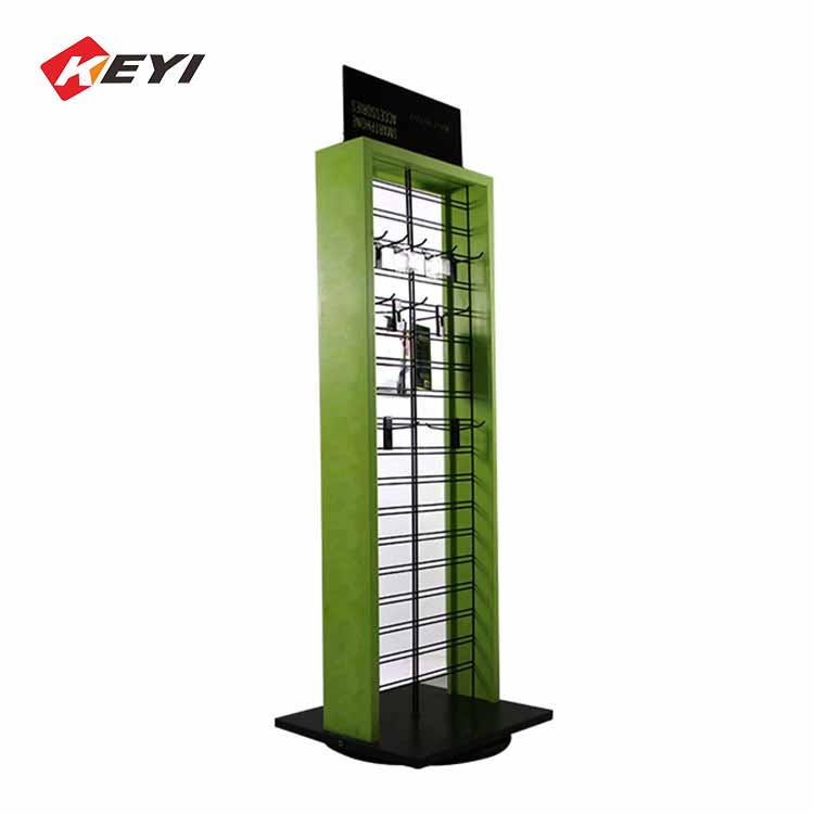 Custom Mobile Phone Shop Rotating Display Stand For Mobile Accessories