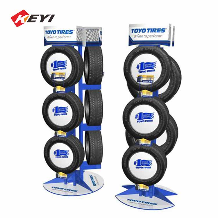car 4s shop floor tyre display stand for sale