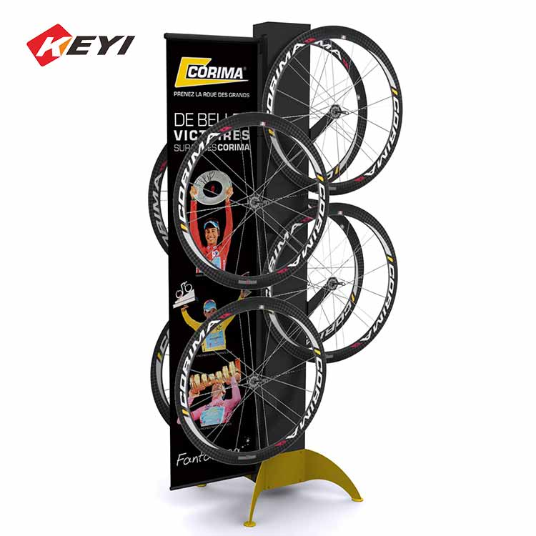 metal double sided bicycle tire display stand