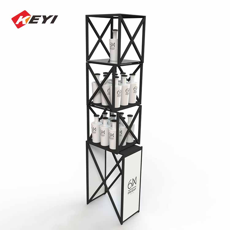 stackable metal retail wine display units,yellow tail wine display stand