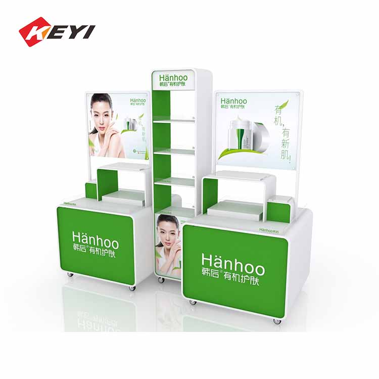 luxury makeup display stand with lights