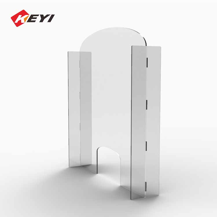 fast delivery desktop u shape acrylic screen shield counter safety shield guard for cashier