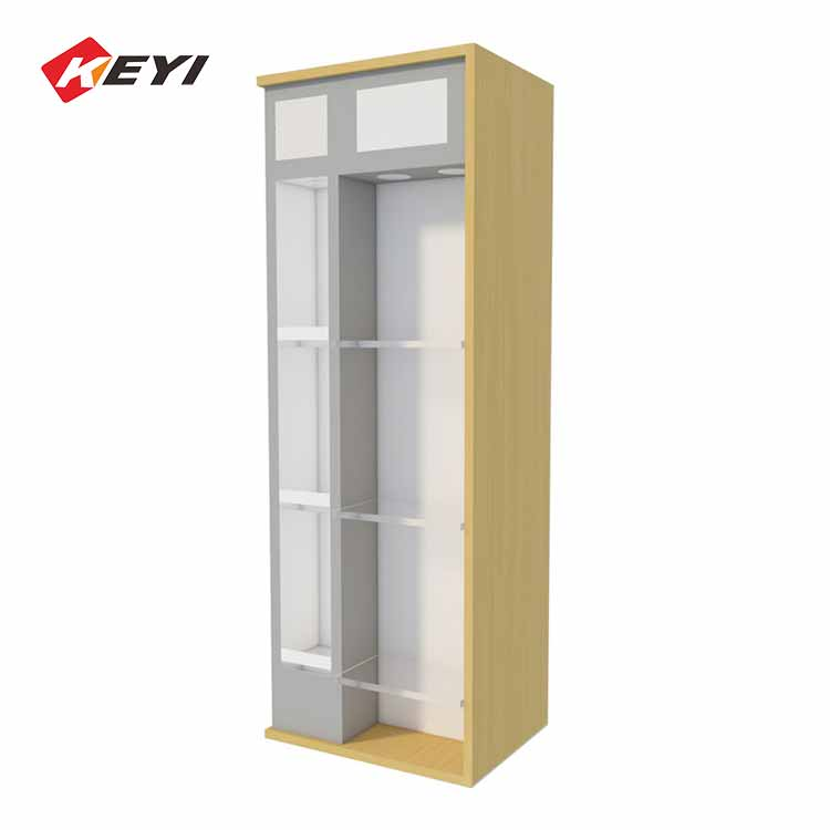 Wooden Wine Display Cabinet With LED Lighting