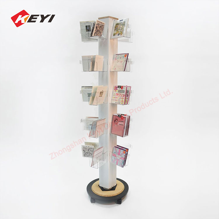 Retail Shop Floor Spinner Stand Gift Card Display